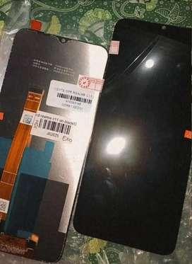 Lcd touchscreen realme c11/c15 sekalian pasangnya