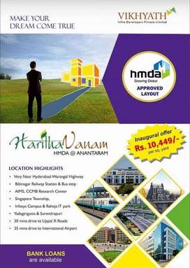 Open plots for sale at BIBI nagar, with all Amenties
