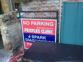 LIGHTING BOARD AND NO PARKING BOARDS