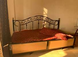 Wrought Iron Sofa cum bed with storage for Urgent sale