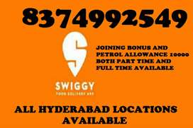 CHANCE TO EARN INCOME UPTO 30000 MONTHLY FROM SWIGGY DELIVERY JOB