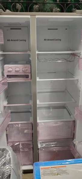 Side by side refrigerator latest model Samsung silver colour