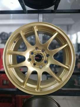 Jual velg HSR Ring 15 untuk mobil Brio, mirage, Datsun Bisa credit