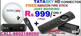 DHAMAKA#OFFER TATA SKY NEW DTH HD CONNECTION WITH AMAZON STICK Rs.999