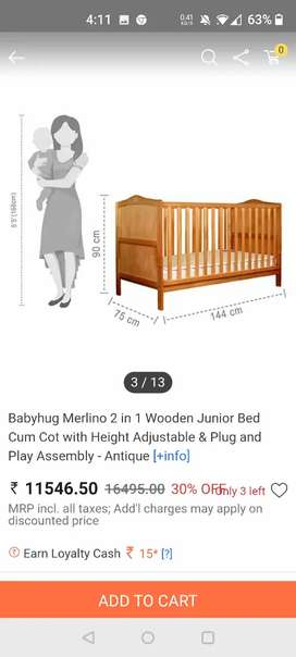 Never used baby -kid cot along with mattes and cushions