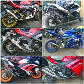 Knalpot Racing Buat Ninja250 Fi.CBR150/250.R25.Mt25.CB150.XMAX Slip On