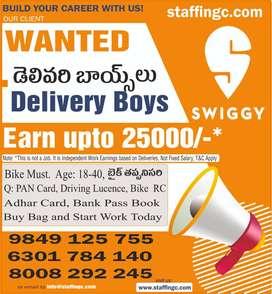 We Hiring Swiggy Delivery Boys