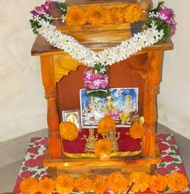 Wooden temple with storage at very good price