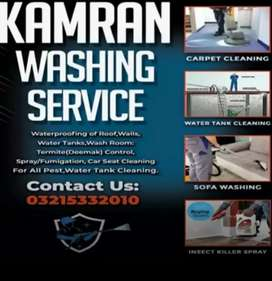 Sofa Cleaning, Parda Cleaning, Carpet Cleaning and Water Tank Cleaning