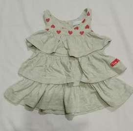 Dress bayi Perempuan Love Usia 6-12 bulan Murahi