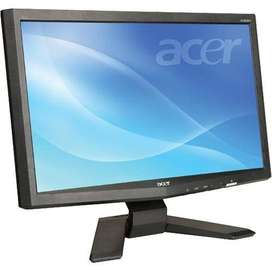 """Rectangle Disply 18.5"""" Wipro/Acer LCD Monitor Just Rs. 2350/- only"""