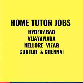 Home Tutors Recuitment In All Over Hyderabad