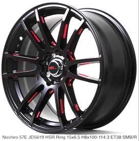 New Wheels NOSHIRO 57E JD5619 HSR R15X65 H8X100-114,3 ET38 SMB/R