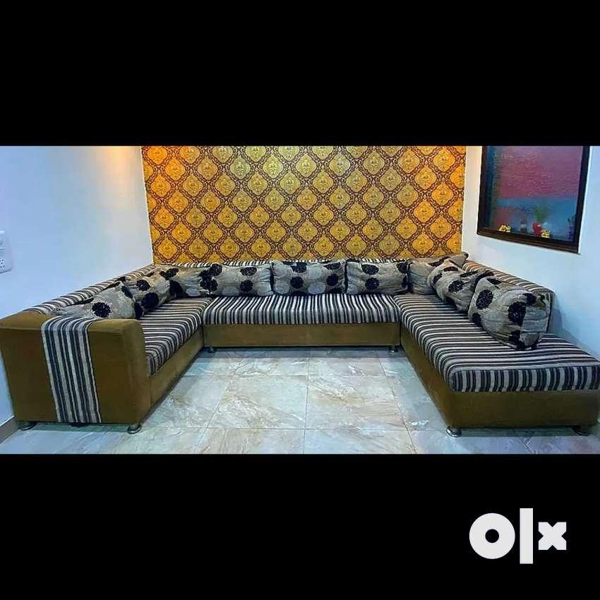 Modern U- Shaped Sofa ,9 seater