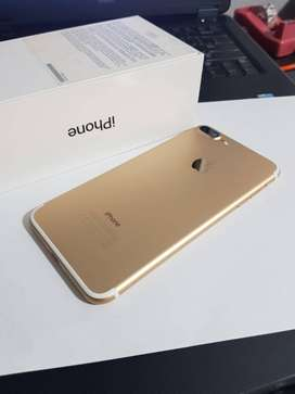 Apple IPhone 7 plus, 128gb, Excellent condition,  Gold color  with bil