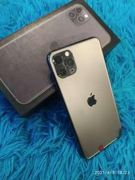 IPHONE 11 PRO MAX 64Gb Warna MIDNIGHT GREEN LIKE NEW