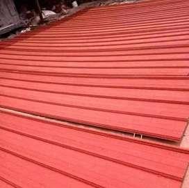 Kontruksi rangka atap baja ringan dengan atap sepandek pasir