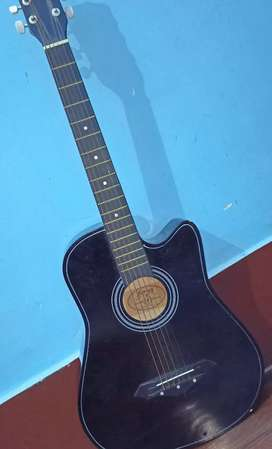 ONLY 2 MONTHS OLD JUAREZ ACOUSTIC GUITAR WITH A BRANDED GUITAR COVER.