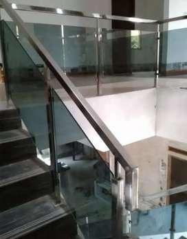 Kami bengkel las nerimah pembuatan balkon stanlis kaca $$1176