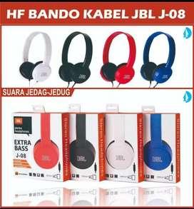 grosir hansfree bando jbl jb-08+mic bisa telfon