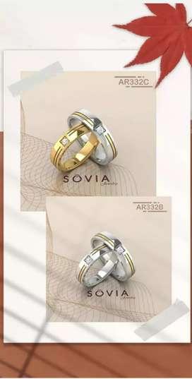 jual cincin perak untuk tunangan murah dan proses pembuatan tidak lama