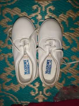 Maxfort White shoes suitable for 3-4 year old