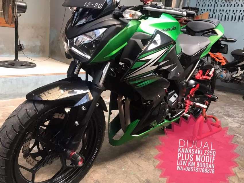 FS : kawasaki ninja Z250, full modif, km 9000an, standart komplit. 0