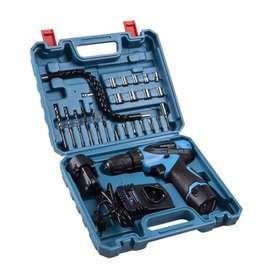 Cordless drill set 24 pcs mesin bor 2 baterai 12V set tasikmalaya