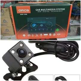 Paket Tv Headunit Android ORCA 7 inch & Kamera Mundur LED