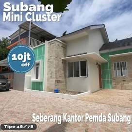 Rumah cocok investasi diskon 11mnt SMAN2 di Subang Dangdeur