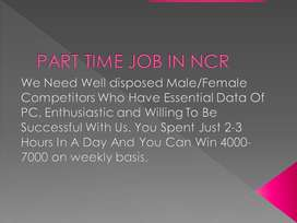 PART TIME WORK FOR FRESHERS IN DELHI/NCR