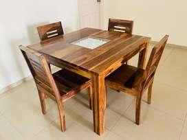 4 Seater Dinning Table (Teak Finish)