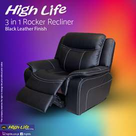 Motorized Recliner Pure Cow Leather 3739 (High Life)