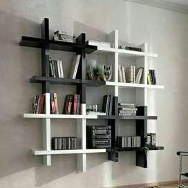 Rak dinding kotak minimalis