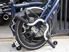 Brompton H6RD tempest blue 2020 with dynamo light