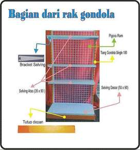 Rak Display Minimarket End Gondola T105cm Rak Toko