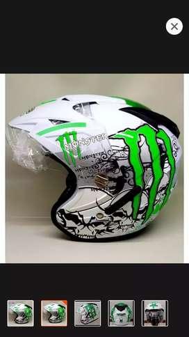 Helm monster dobel kaca
