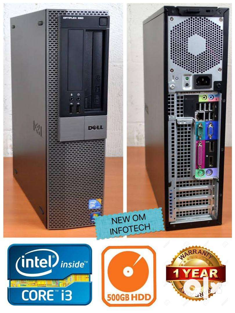 DELL i3 CPU WITH 1 YEAR WARRANTY/500GB HDD/4GB RAM/SLIM LOOK/FIX PRICE