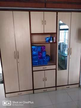2 door wardrobe with tv cabinet