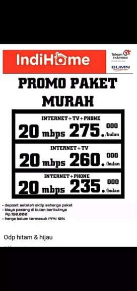 indihome internet unlimited kecepatan 20 termurah