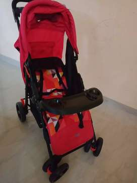 Baby stroller (red colour)