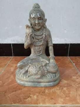 Patung dewa siwa batu onik alami