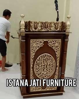 Mimbar masjid mimbar kayu jati mimbar