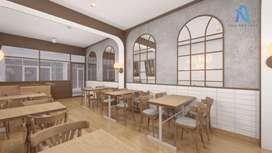 Desain interior dan pengerjaan proyek apartemen rumah cafe barbershop