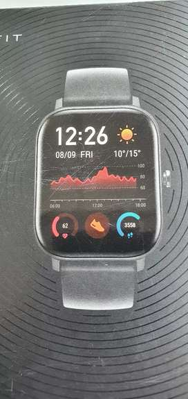 Amazfit GTS watch full new working in iphone android both