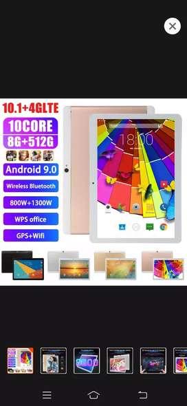 Tablet 10.1+ 4GLTE 8g 512g 10core