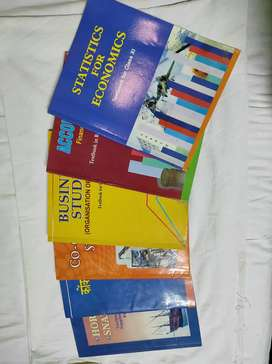 11th Std commerce text books in clean and neat condition.