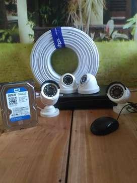 CCTV jernih 2 megapixel 2 unit, termasuk pasang, garansi setahun