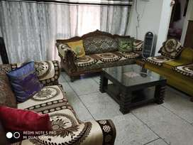 Sofa set with centre table and a settie