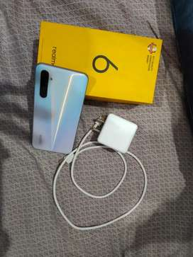 Realme6 ram6  64  1month old with all accessories charger available